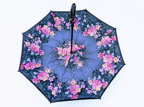 Зонт-наоборот, up-brella, механический, синий, фото 2