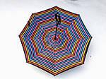 Зонт-наоборот, up-brella, механический, цветная полоска, фото 2
