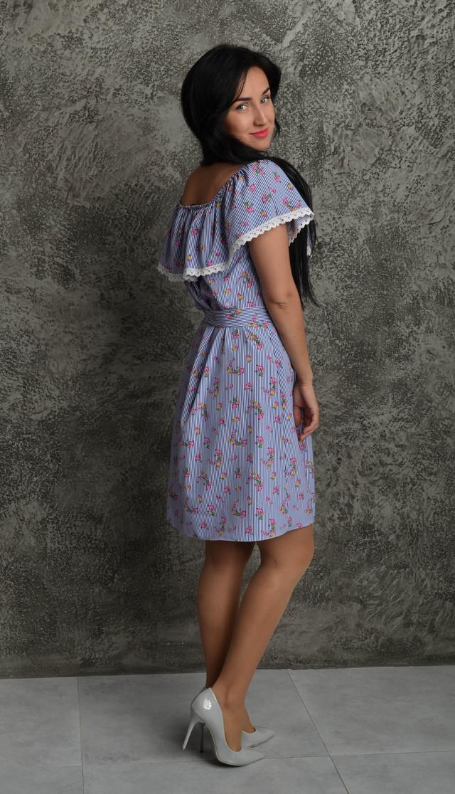 0dbc8c6fd286ddc Короткое летнее платье в полоску с цветами: продажа, цена в ...