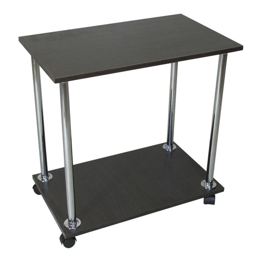 """Прикроватный журнальный столик """"Loco"""" Венге для ноутбука или завтрака, на роликах (придиванный)"""