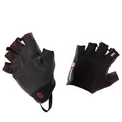 Перчатки для тяжелой атлетики Domyos fitness 100