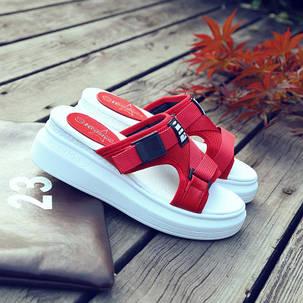 Женские сандалии тканевые , фото 2
