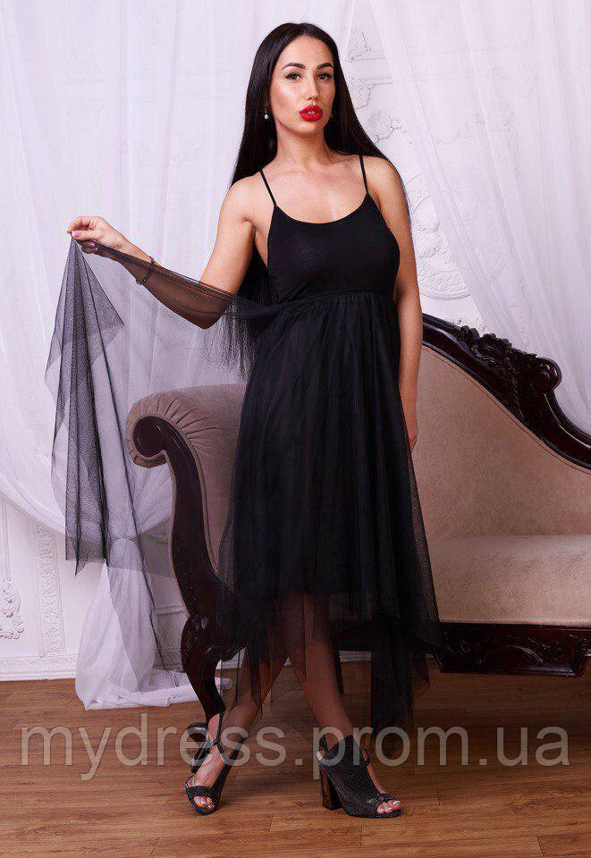 Платье комбинация с фатиновой юбкой 724