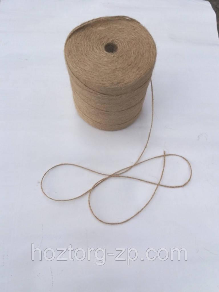 Шпагат джутовый двухниточный для подвязки растений