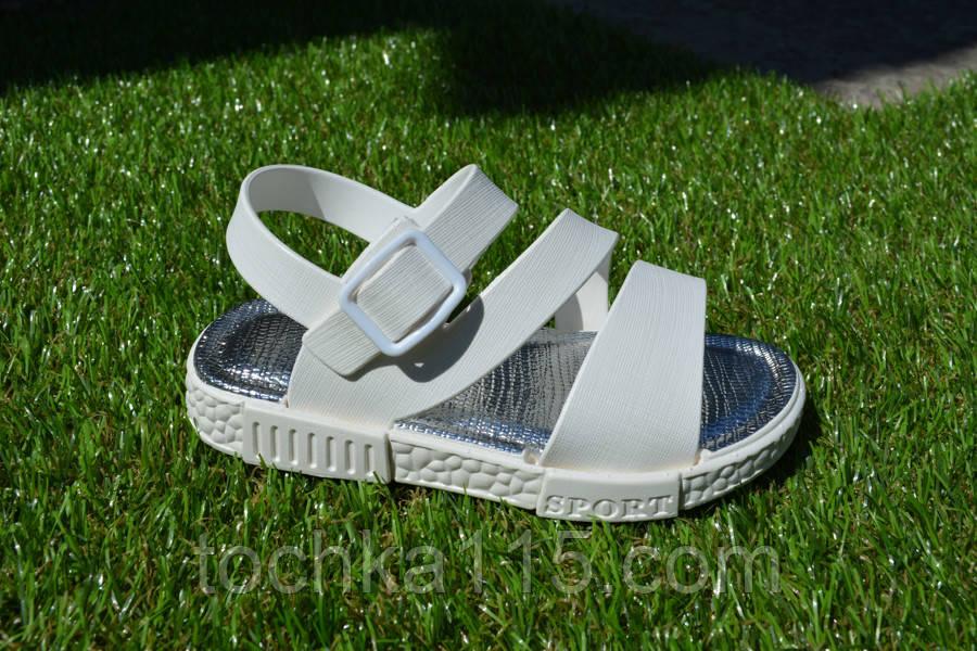 Детские босоножки сандали резиновые белые 25-35