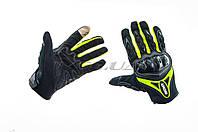 Перчатки   SUOMY   (черно-зеленые size XL)
