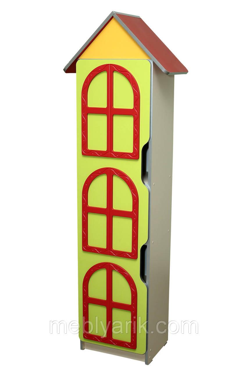 Стенка детская ЦВЕТОЧНАЯ ПОЛЯНА № 8 БАШНЯ с дверями