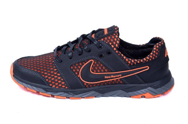 Мужские летние кроссовки сетка Nike NM black    , фото 2