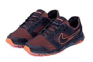 Мужские летние кроссовки сетка Nike NM black    , фото 3