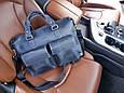 Кожаная мужская сумка для документов Vatto, фото 10