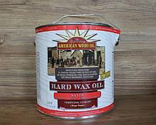 Водостойкое покрытие для деревянных поверхностей, Hard Wax Oil, Satin, 2.5 litre, American Wood Oil
