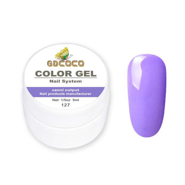 Гель-краска GDСосо Color Gel 127 Фиалковый 5 ml