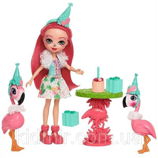 Набор Enchantimals Праздник Фламинго и кукла Фенси FCG79