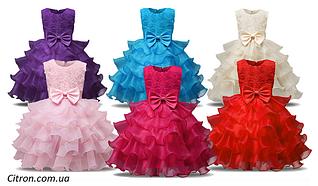 Платье бальное выпускное нарядное для девочки в садик или школу