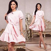 Женское летнее платье с воланом и с пояском, фото 1