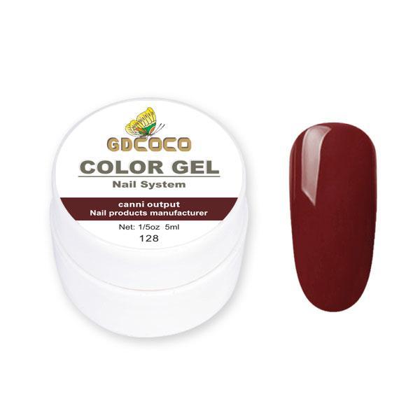 Гель-фарба GDСосо Color Gel 128 Теракотовий 5 ml