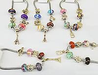 1118 Брендовый браслет Пандора с золотыми подвесками, женские украшения оптом 7 км.