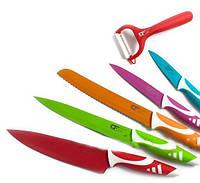 Набор ножей с керамическим покрытием, 6 предметов в упаковке