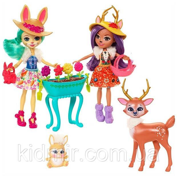 Набір Enchantimals Магічний сад і ляльки Флаффи і Данэсса FDG01