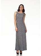 Платье трикотажное длинное. Модель П115_черный трикотаж., фото 1