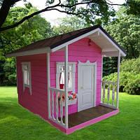 Детский деревянный домик премиум класса для девочки