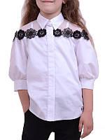 Детская блузка Кокетка для девочки (рост 122-140)