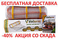Теплый пол нагревательный двужильный кабель VOLTERM HR12 1550 10,4 м² 13,0 м² 1550 W, 130 м монтаж в плиточный клей