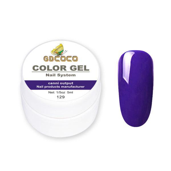 Гель-краска GDСосо Color Gel 129 Сиреневый 5 ml