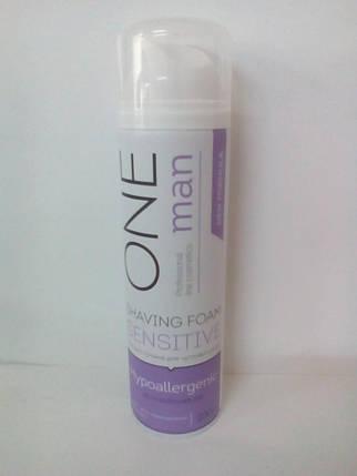 Пена для бритья для чувствительной кожи гипоаллергенная Oneman (успокаивающее действие) 200мл (0900), фото 2
