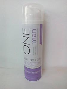 Пена для бритья для чувствительной кожи гипоаллергенная Oneman (успокаивающее действие) 200мл (0900)