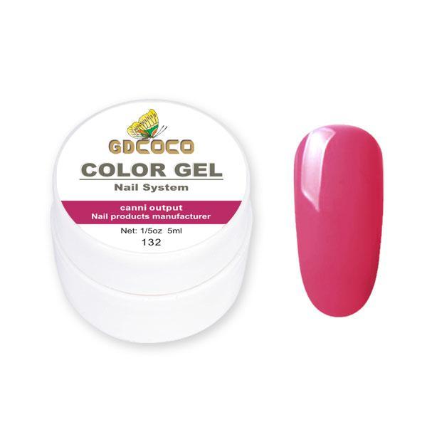 Гель-фарба GDСосо Color Gel 132 Малиновий 5 ml