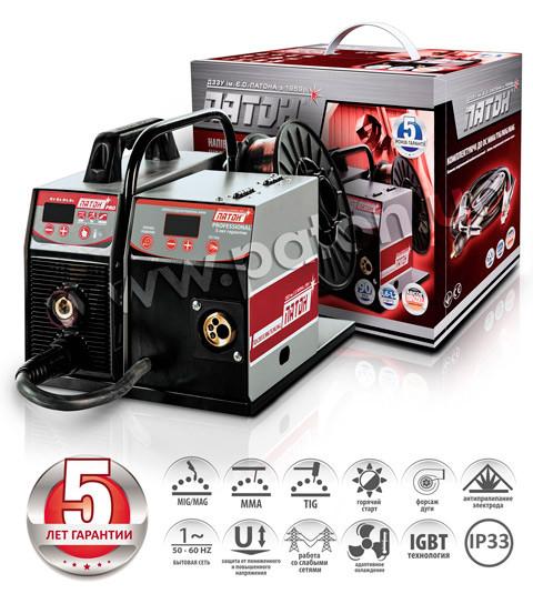Цифровий напівавтомат інверторний ПСИ-250P-380V (15-2) DC MMA/TIG/MIG/MAG серії «PRO»