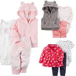 Комплекты с кардиганами и жилетками для девочек от 0 до 24 месяцев