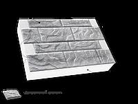 Фасадная термопанель c каменной ватой 100мм Sunrock cкальный камень, белый цемент, 600x400мм