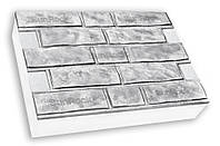 Фасадная термопанель c пенополистиролом 100мм Sunrock колотый кирпич, серый цемент, 600x400мм