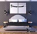 Кровать Индиго с декоративными гвоздиками, фото 3