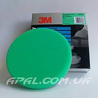 50487 Зеленый многоразовый полировальник 3М на липучке, 150 мм (для полировальной пасты 50417)