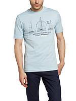 Голубая мужская футболка LC Waikiki / ЛС Вайкики с надписью на груди National yachting club