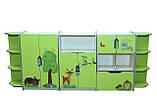 Шкаф детский ЗВЕРЮШКИ № 8 открытый с ящиком на 5 отделений, фото 4