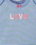 Комплект тройка Картерс Carters для девочки, розовый,голубой, белый 18М(78-83 см), фото 2