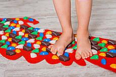 Массажный коврик-массажер с цветными камнями «Орел» 148х50 см, фото 2