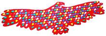 Масажний килимок-масажер з кольоровими каменями «Орел» 148х50 см