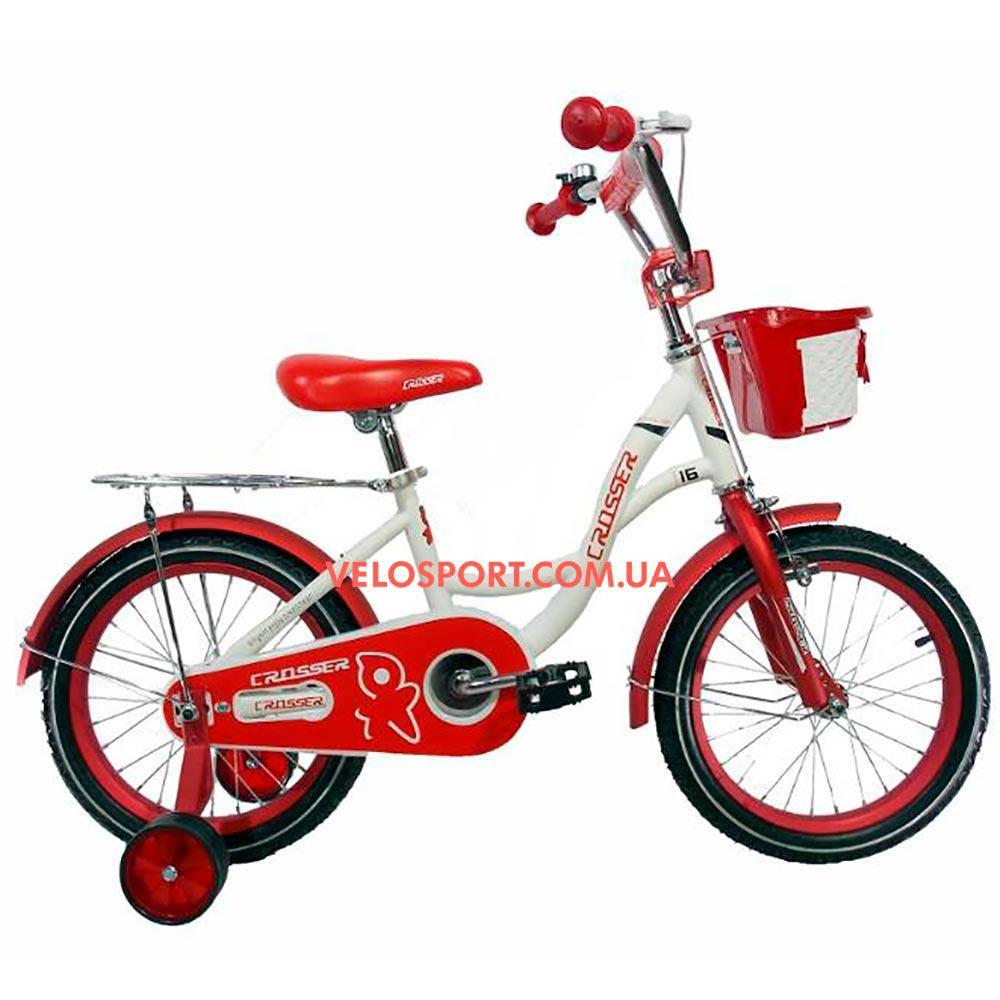 Детский велосипед Crosser JK 703 16 дюймов красный