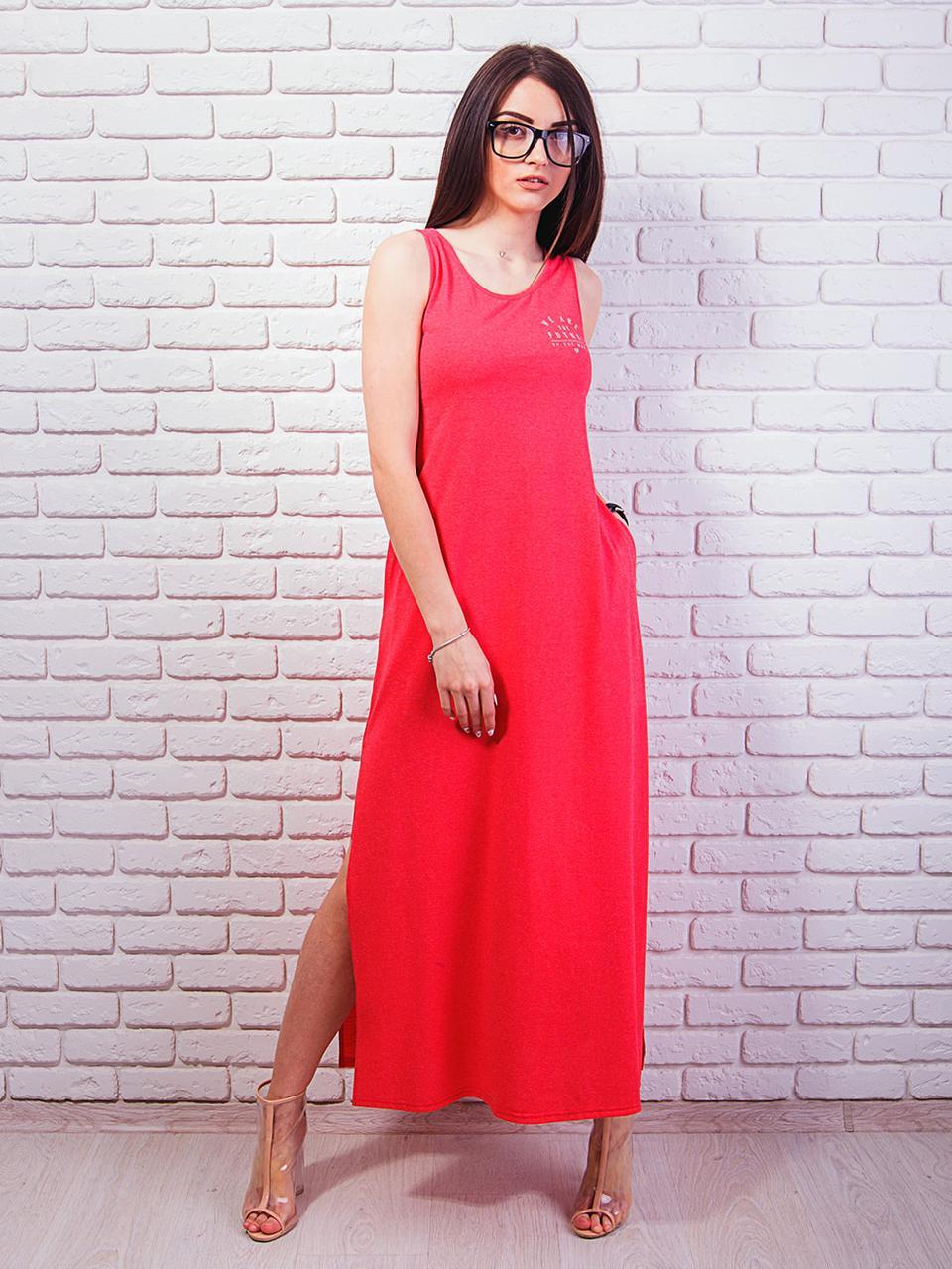 17b353924391730 Купить Длинное летнее платье без рукавов 707381463 - Грация & Стиль