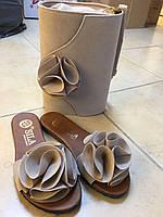 Набор светло-серый: сумка, обувь