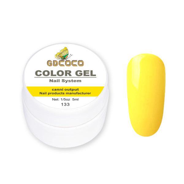 Гель-фарба GDСосо Color Gel 133 Жовтий 5 ml