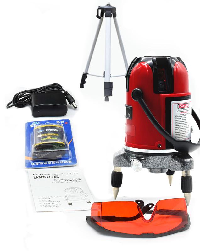 Набор профессиональный лазерный уровень нивелир 5 линий 6 точек штатив с треногой 120см без бокса