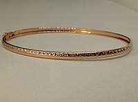 Золотой жесткий браслет. Артикул 321368, фото 1