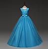 Платье голубое бальное выпускное длинное в пол нарядное для девочки в садик или школу