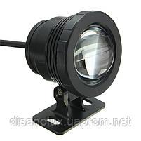 Светильник подводный для бассейна и фонтана WG-11 LED 10W 12V RGB пульт IP68 черный, фото 2